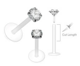 Flexible Bioplastic Labret Monroe piercing