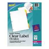 AVE11435 - Avery Index Maker Clear Label Dividers