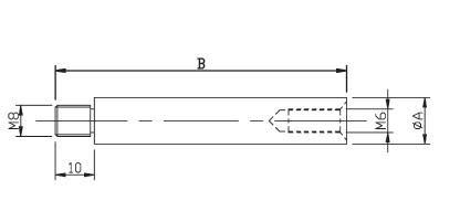 Anschraubplatte Handlauftr/ägerst/ütze Rohrstopfen V2A leicht gew/öblt f/ür RR 42,4 x 2 mm mit R/ändel und Gewinde M8 f/ür Handl/äufe Handlauftr/ägerst/ütze mit 1x M8 Gewinde: 100mm flach