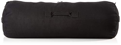 Duffel Bag with Zipper, 21 H x 36 W, Black