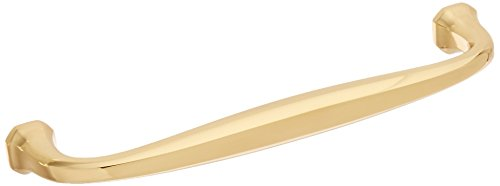 Baldwin Estate 4363.030 Severin Fayerman Curved Solid Brass Appliance Pull in Polished Brass, (Polished Brass Appliance)