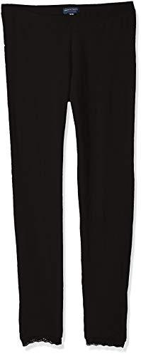 French Toast Girls' Big Lace Trim Legging, New Black L (10/12)