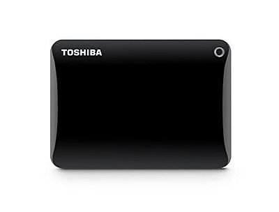 Toshiba Canvio Connect II Portable 2TB Hard Drive + 32GB microSDHC Card & Adapter