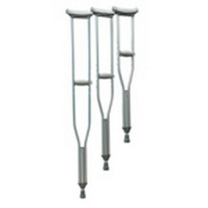 GF Health 3613C-8 Universal Aluminum Crutches (Combo Pack of 4 Adult, 2 Tall, 2 Youth) (Pack of 8)