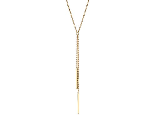 G&H Gold Plated Sterling Silver Y-Necklace with Double Bar Drop Detail by Gold & Honey 1995