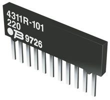 ISO RES N//W 4 SIP 100 pieces 2/% BOURNS 4308R-102-332LF RESISTOR 3.3KOHM