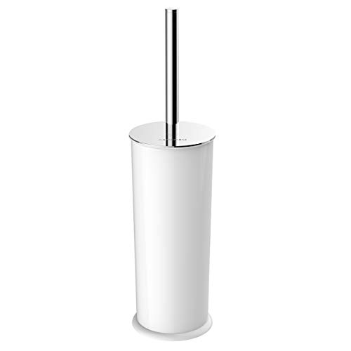 Homemaxs Toilet Brush and Holder Toilet Bowl Brush Toilet Brush with304 Stainless Steel Long Handle for Bathroom