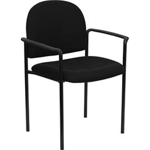chairs with arms. Flash Furniture Comfort Black Fabric Stackable Steel Side Reception Chair With Arms Chairs A