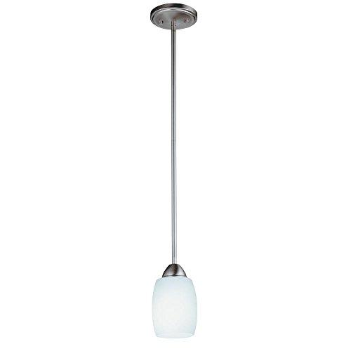 Opal Glass Electronic Ballast - Lithonia Lighting Ferros Energy Star Indoor Mini-Pendant Light, Brushed Nickel, 13