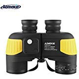 Aomekie Marine Binoculars for Adults Waterproof 7X50 with Compass Rangefinder Fogproof BAK4 Prism