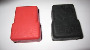 Durite 1 2 558 99 Red Black Rubber Battery Terminal Covers Set 2