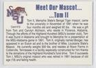 Basketball Card Tom II 1992-93 Memphis State Tigers - Base #NoN