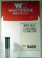 Whiteside Router Bits 6400 Steel Router Collet with 1/4-Inch Inside Diameter and 1/2-Inch Outside Diameter by Whiteside