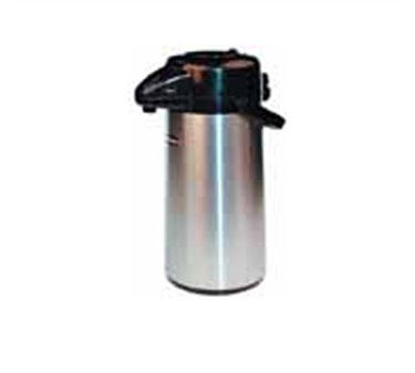 (Winco Stainless Steel Lined Airpot, 3-Liter, Push Button)