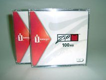 2-pack Zip 100MB Pc Adobe Blister Activeshare Quad-lingual by Iomega