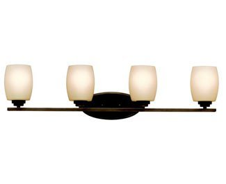 Kichler 5099OZ Bath Vanity Wall Lighting Fixtures, Bronze 4-Light (34'' W x 10'' H) 400 Watts