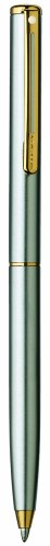 Sheaffer Agio Ball Pen, Brushed Chrome Plate Finish with 22K Gold Plate Trim -