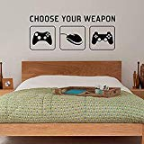 Wall Vinyl Decal Ra Choose Your Weapon Video Game Gaming Sticker Mural Kids Children Teenager Teens Bedroom Man Cave Room Art Ideas Canvas Home Decor HDS7817
