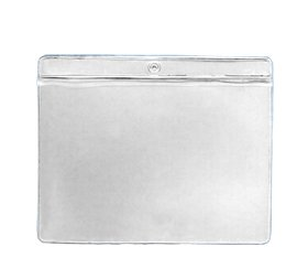 (VHB557 - Vinyl Envelopes Tag Pockets Clear Vinyl - Price Card Pouches - Job Ticket Holders (7