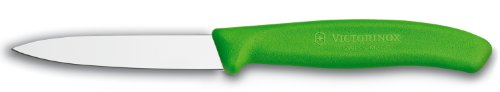 Victorinox 3.25 Inch Swiss Classic Paring Knife with Straight Edge, Spear Point, Green (Green Paring Knife)