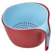 Tasty 2pc Colander Set - Colander and Bowl, Blue/Red by Tasty
