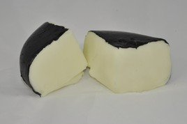 Realistic Fake Smoked Gouda Cheese Wedges with Black Rind, Set of 2 Wine Smoked Gouda