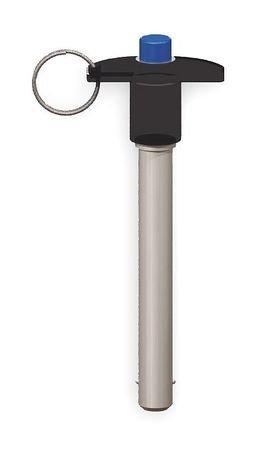 T Handle Lock Pin, 1.5, 1/4, 1-13/16 In Al