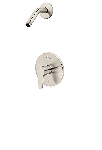 Pfister Pfirst Modern R89-060K 1-Handle Shower, Trim Only Less Showerhead, in Brushed Nickel