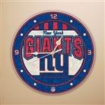 New York Giants 12 Inch Art Glass Clock