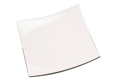 American Metalcraft MEL43 Endurance Melamine Concave Square Platter, 16 x 16, White