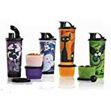 Halloween Spooky Tumbler Snack Cup Set Spill Proof Lids (4 Set -