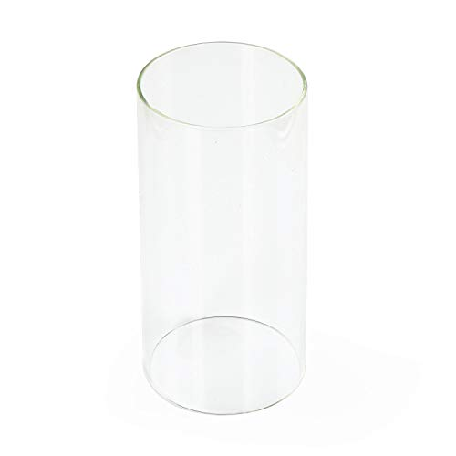 Clear Glass Shade Straight Cylinder Glass Lamp Shade Replacement Glass Shade (Eumyviv A00006)