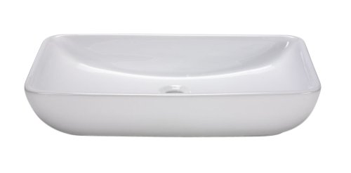 Console Sinks Bone Vitreous China (Xylem CVE237RC Rectangular Vitreous China Vessel Sink)
