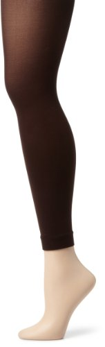 Capezio New York Women's Opaque Footless Tights, Java B