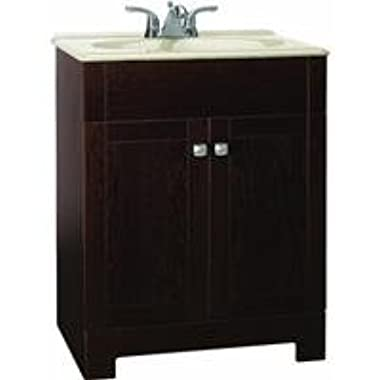 Rsi Home Products CBPPFSJVO24 Aluminum Fully Assembled Sedona Java Combo Vanity, Includes SST Countertop, 24 , Beige