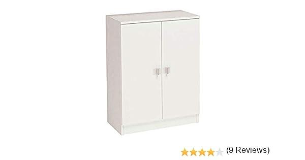 HOGAR24 Armario bajo, 2 Puertas, 60 cm de Ancho, Madera, Color Blanco: Amazon.es: Juguetes y juegos