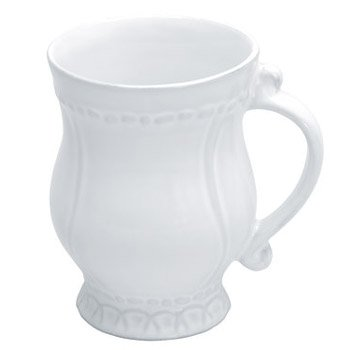 Skyros Designs Historia Mug (Paper White) (White Hobnail Dinnerware)