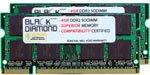 2GB 2X1GB Memory RAM for HP Pavilion Notebooks Notebook dv5-1150ec DDR2 SO-DIMM 200pin PC2-6400 800MHz Black Diamond Memory Module Upgrade