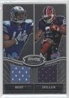 Jahvid Best; C.J. Spiller (Football Card) 2010 Bowman Sterling - Box Topper Dual Relic #BSDR-BS (Bowmans Best Football Box)