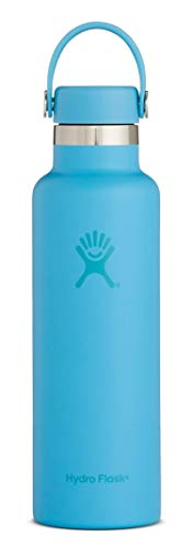 Hydro Flask Skyline Series 21 oz Double Wall Vacuum Insulated Stainless Steel Leak Proof Sports Water Bottle, Standard Mouth with BPA Free Flex Cap, Sky