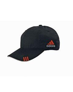 adidas Golf Lightweight Cotton Front Hit Cap, Black/Mid Grey/Intense Orange (Adidas T-shirt Cap)