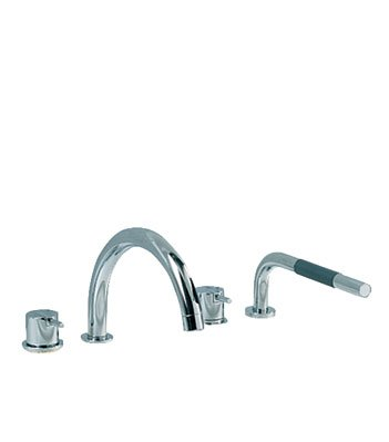 Vola SC12-16 One-Handle Tub Mixer with Swivel Spout and Mixer with Handspray - (Vola Mixer)