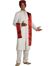 Bollywood Guy Costume Adult - light yellow - Fits up to 44 jacket size