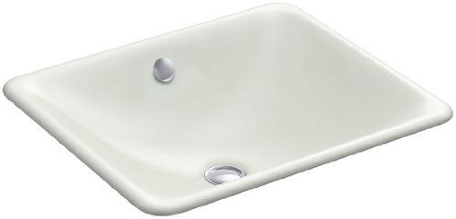 Kohler 5400-FF Cast Iron undermount Square Bathroom Sink, 18.5625 x 15.75 x 6.3125 inches, Sea Salt (Sea Vessels Salt)