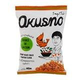 Chips Free Drink 25 - Okusno Fried Shrimp Heads Snack Tom Yum Flavor-25g.(pack of 6)