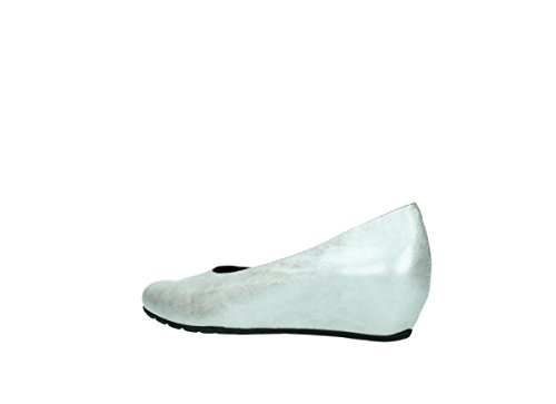 Wolky Ballerina 1910 Capella 919 perlweiß metallic Leder