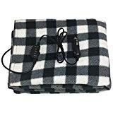 Electric Car Blanket- Heated 12 Volt Fleece Travel Throw for Car and RV, Great for Cold Weather, Tailgating, and Emergency Kits