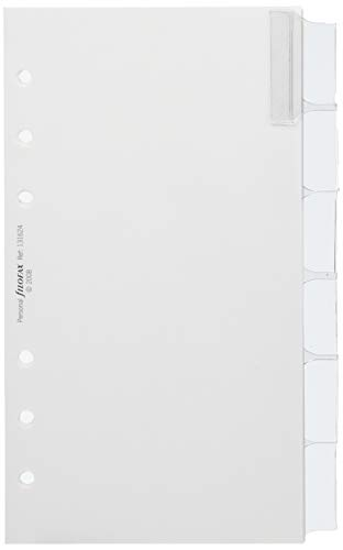 (FiloFax, Personal, Blank Index, Six Tab With MultiColoured Labels, 131624)