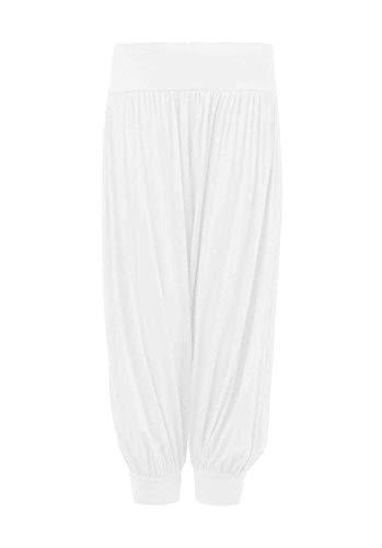 Loxdonz Kids Harem Loose Casual Baggy Sports Dancing Pants Girls Harem Children Trouser (7-8 Years, White) -