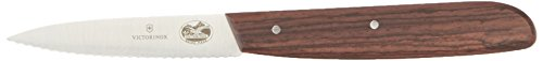 Victorinox 3.25 Inch Rosewood Paring Knife with Serrated Edge, Spear Point